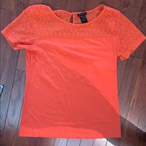 Ann Taylor Lace Top Tee